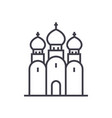 russian orthodox church line icon sign vector image vector image