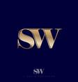 s w monogram logo combined letters premium emblem vector image vector image