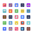 School and Education Colored Icons 2 vector image vector image