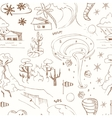 Seamless pattern with doodle sketch Natural vector image