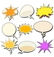 set bubble comic book retro pop art background vector image vector image