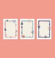 set cover brochure template simple geometric vector image