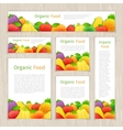 Set of Organic Food Banners vector image vector image
