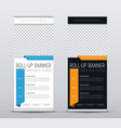 set of roll up banners for business templates of vector image vector image