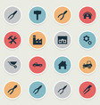 set of simple build icons vector image