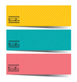 set of three colorful graphic horizontal banners vector image vector image