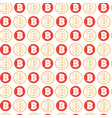 simple seamless pattern bitcoins signs on white vector image vector image