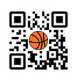 smartphone readable qr code play basketball vector image vector image