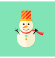 Snowman with Topper Christmas Flat Icon vector image vector image