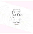 social media banner template for fashion or beauty vector image vector image