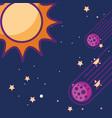 space galaxy card vector image