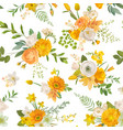 spring flowers watercolor background seamless vector image