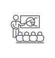 strategy discussion line icon concept strategy vector image vector image