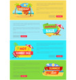 summer sale website collection vector image vector image