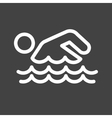 Swimming Person vector image vector image