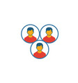 team cohesion icon simple element from project vector image vector image