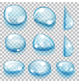 Transparent drops vector image vector image