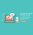 web design for seo teamwork and business strategy vector image vector image