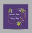wedding invitation floral template geometric vector image vector image
