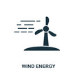 wind energy icon monochrome style design from vector image vector image