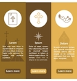 Christianityist banners set vector image