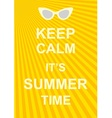 Keep calm poster vector image