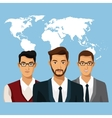 world business people teamwork vector image