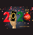 2020 happy new year background vector image vector image
