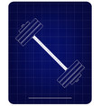 3d model of barbell on a blue vector image vector image