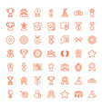49 winner icons vector image vector image