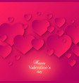 abstract valentines day pink color background vector image vector image