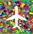 airplane sign white icon on vector image