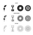 auto and part symbol set