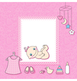 Baby girl vector image vector image