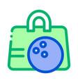 bowling ball bag icon outline vector image vector image