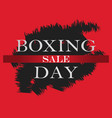 boxing day sale banner boxing day design template vector image vector image
