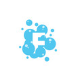 bubble with initial letter f graphic design vector image vector image