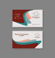 business card template with a wavy shape vector image
