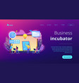 business incubator concept landing page vector image vector image