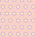 Circle Clasper Pattern on Pastel Color vector image vector image