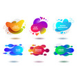 colorful fluid abstract geometric shapes vector image vector image