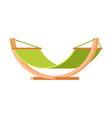 comfortable hammock modern garden furniture vector image