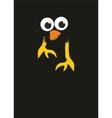 comic cartoon bird in the night vector image vector image