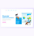 data analytics and finance account online vector image vector image