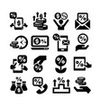 deposit icons set vector image vector image