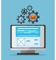 Developer icon design vector image vector image