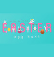 easter egg hunt vector image vector image