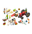 farm cultivated concept working modern vector image