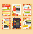 fast food meal and drink banner template set vector image vector image