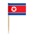 flag of north korea flag toothpick vector image vector image